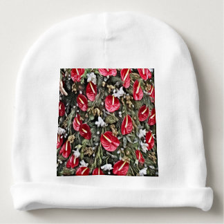amazing floral christmas arrangement baby beanie