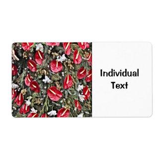 amazing floral christmas arrangement label