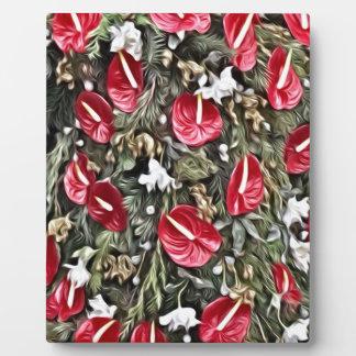 amazing floral christmas arrangement plaque