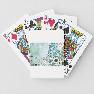 Amazing floral elements poker deck