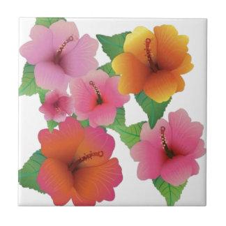 Amazing floral elements ceramic tile