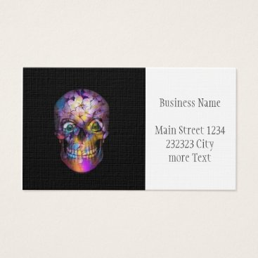 Halloween Themed Amazing Floral Skull A Business Card