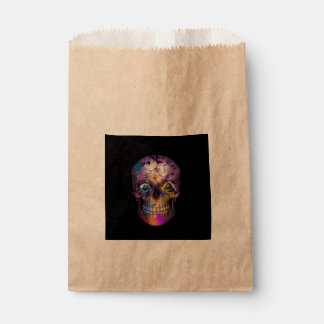 Amazing Floral Skull A Favor Bag
