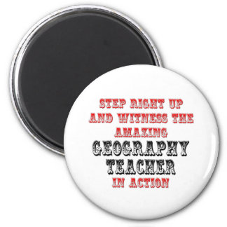 Amazing Geography Teacher In Action Refrigerator Magnets
