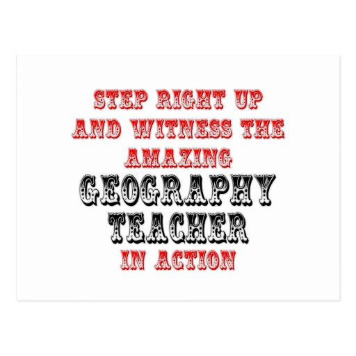 Amazing Geography Teacher In Action Postcard