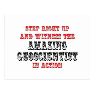 Amazing Geoscientist In Action Postcard