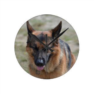 Amazing German Shepherd Round Clock