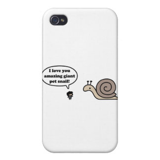 Amazing Giant Pet Snail iPhone 4 Cover