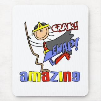 Amazing Girl Hero Mouse Pad