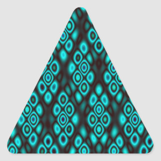 Amazing glowing abstract circles triangle sticker