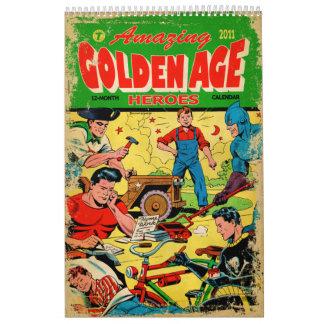 Amazing Golden Age Heroes 2011 Calendar