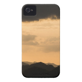 Amazing Golden Sky Mountain Sunset iPhone 4 Cover