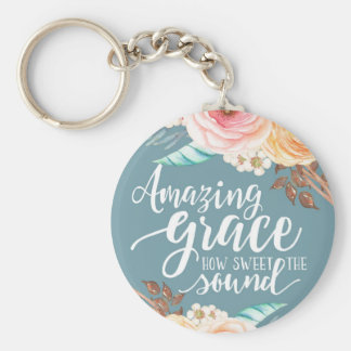 Amazing Grace Basic Button Keychain