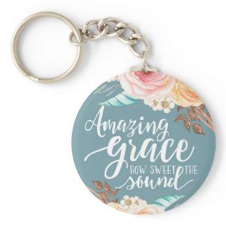 Amazing Grace Basic Button Keychain