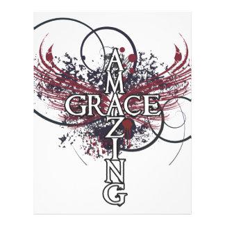 Amazing grace Christian cross Letterhead