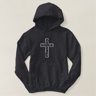 Amazing Grace Cross Embroidered Hoodie