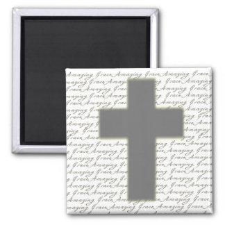 Amazing Grace Cross Magnet