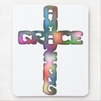 Amazing Grace Cross Mouse Pad