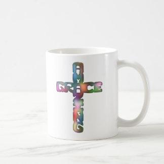 Amazing Grace Cross Coffee Mug