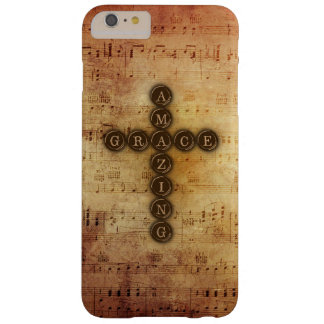 Amazing Grace Cross on Aged Vintage Sheet Music Barely There iPhone 6 Plus Case