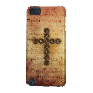 Amazing Grace Cross on Aged Vintage Sheet Music iPod Touch (5th Generation) Case