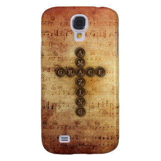 Amazing Grace Cross on Aged Vintage Sheet Music Samsung Galaxy S4 Cover