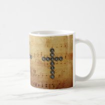 Amazing Grace Cross on Vintage Music Sheet Coffee Mug