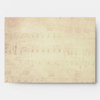 Amazing Grace Cross on Vintage Music Sheet Envelope