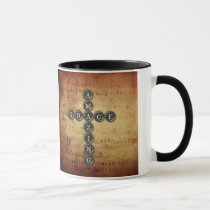 Amazing Grace Cross on Vintage Music Sheet Mug