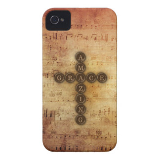 Amazing Grace Cross on Vintage Sheet Music iPhone 4 Case