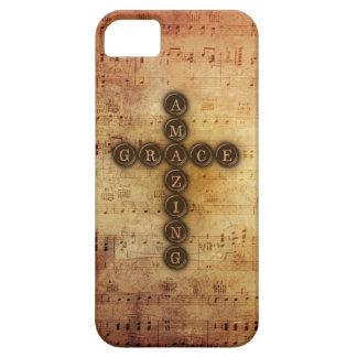 Amazing Grace Cross on Vintage Sheet Music iPhone SE/5/5s Case