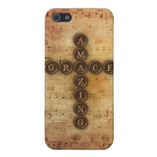 Amazing Grace Cross on Vintage Sheet Music iPhone SE/5/5s Cover