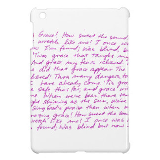 Amazing Grace handwritten lyrics iPad Mini Cases