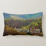Amazing Grace How Sweeet The Sound Mountains Throw Pillows