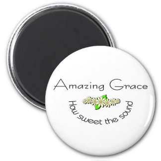 Amazing Grace how sweet the sound Christian 2 Inch Round Magnet