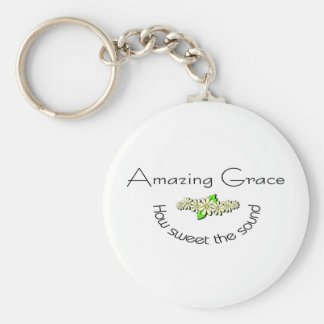 Amazing Grace how sweet the sound Christian Basic Round Button Keychain