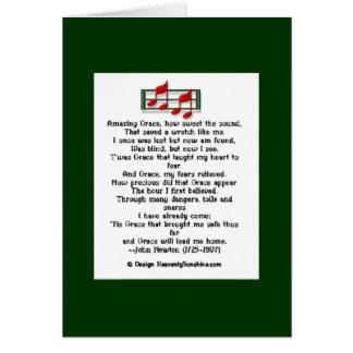 Amazing Grace Hymn Greeting Card