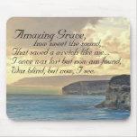 Amazing Grace Hymn Ocean Sunset Mousepad
