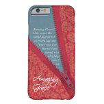 Amazing Grace Hymn - Red Floral Zipper Pull Design Barely There iPhone 6 Case