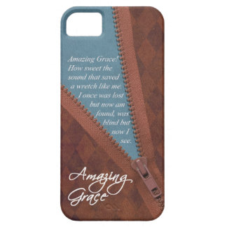 Amazing Grace Hymn Song - Brown Zipper Pull Design iPhone SE/5/5s Case