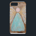 "Amazing Grace i-phone Case<br><div class=""desc"">I-phone  6/6s case with original artwork by Sara Arnall.  Amazing Grace Hymn behind beautiful blue Angel</div>"