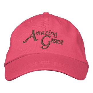 Amazing Grace Inspirational Hymn of Faith Embroidered Baseball Hat