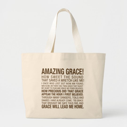AMAZING GRACE LARGE TOTE BAG