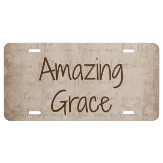 Amazing Grace License Plate