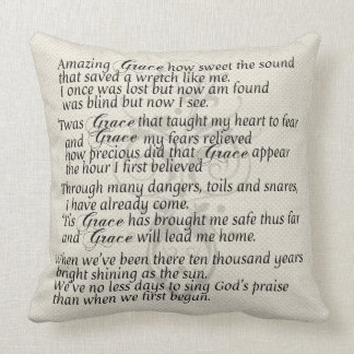 Amazing Grace Lyric Pillow