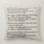 Amazing Grace Lyric Pillow Throw Pillow