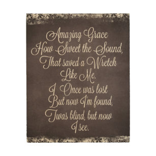 picture relating to Amazing Grace Lyrics Printable named Outstanding Grace Artwork Wall Décor Zazzle