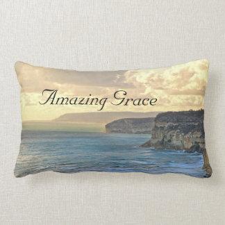 Amazing Grace Ocean Sunset Custom Throw Pillow