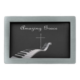 Amazing Grace Rectangular Belt Buckle