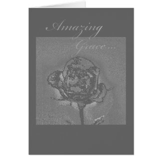 Amazing Grace Rose Greeting Card